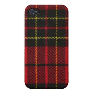 Brodie Red Modern Tartan Plaid iPhone 4 Case