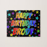 "[ Thumbnail: ""Brody"" First Name, Fun ""Happy Birthday"" Jigsaw Puzzle ]"