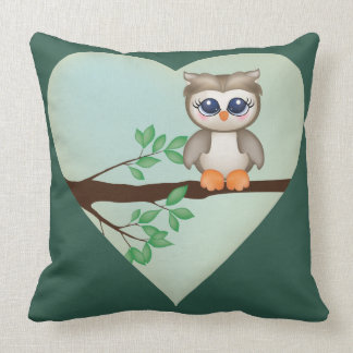 Brody the Owl Throw Pillow