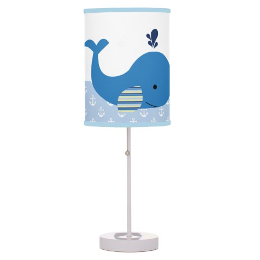 Brody Whale Nautical Baby Nursery Lamp