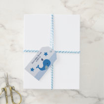Brody Whale Nautical Baby Shower Tags