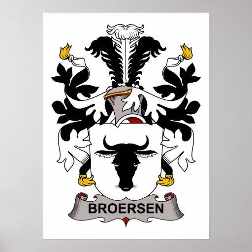 Broersen Family Crest Poster