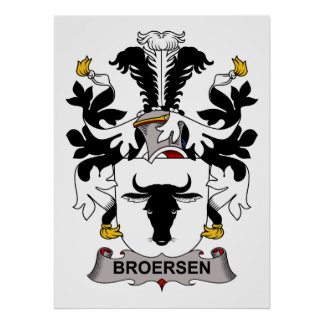 Broersen Family Crest Print