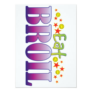 Broil Eat 5.5x7.5 Paper Invitation Card