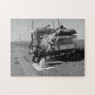 Broke, baby sick, and car trouble! Dorothea Lange Jigsaw Puzzle