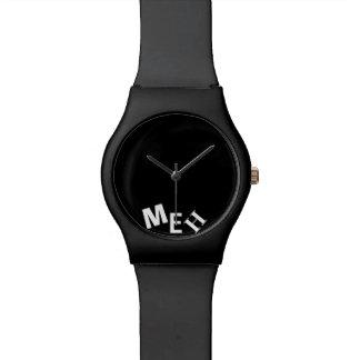 Broke Black Monogrammed Wristwatch