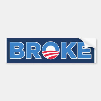 BROKE BUMPER STICKER