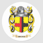 Broke Coat of Arms (Family Crest) Sticker