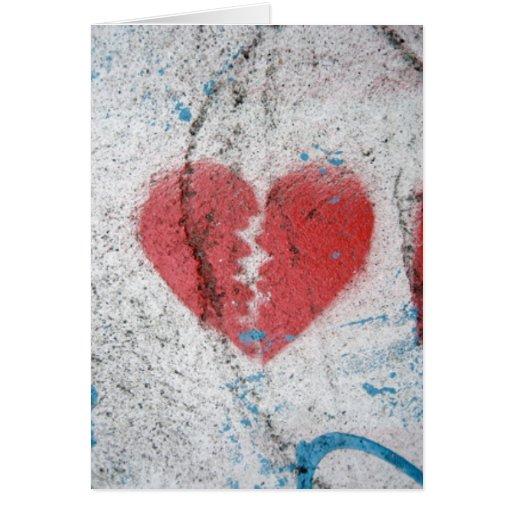 Broke Heart Greeting Card