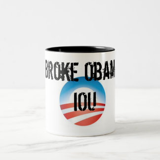 Broke Obama IOU Two-Tone Coffee Mug