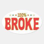 Broke Star Tag Sticker