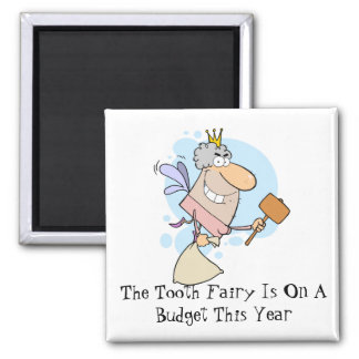 Broke Tooth Fairy 2 Inch Square Magnet