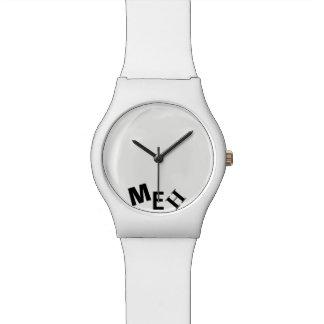Broke White Monogrammed Wristwatch