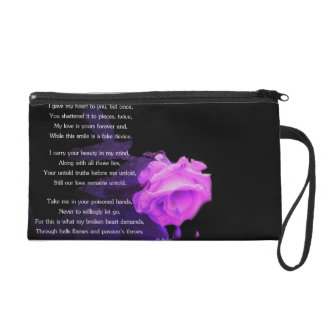 Broken and Cold Wristlet Purse