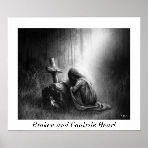 Broken and Contrite Heart- Small Poster