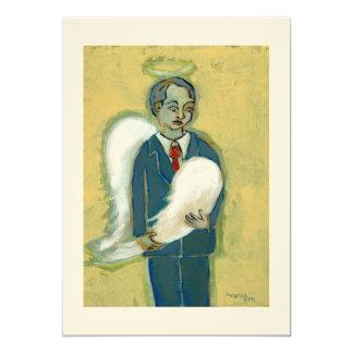 Broken Angel Man humility humanity unique art 5x7 Paper Invitation Card