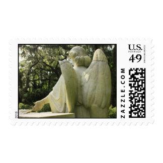 Broken Angel WIngs postage stamp