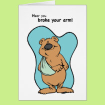 Broken Arm Bear Card