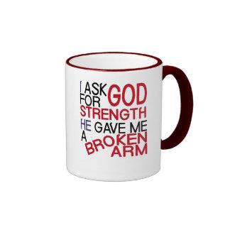 Broken arm form god ringer mug