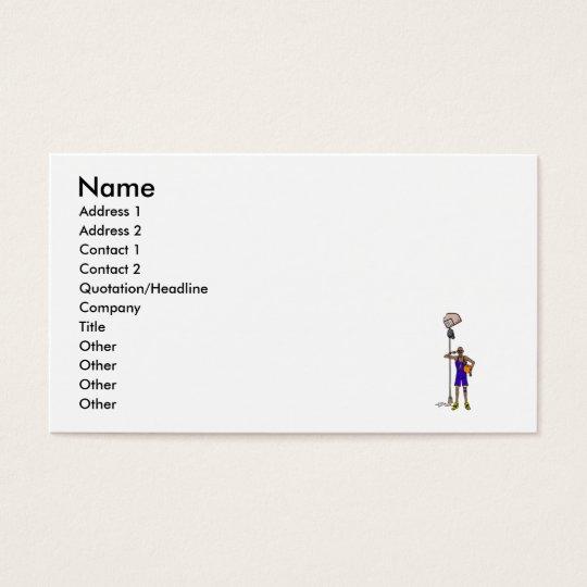 broken backboard business card