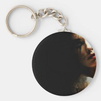 Broken Basic Round Button Keychain