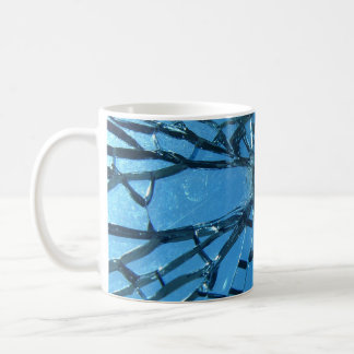 Broken Blue Glass Coffee Mug