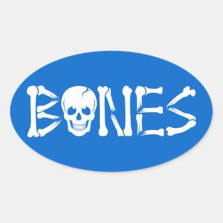 Broken Bones Oval Sticker