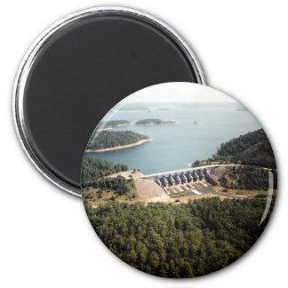 Broken Bow Dam 2 Inch Round Magnet