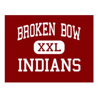 Broken Bow - Indians - High - Broken Bow Nebraska Postcard
