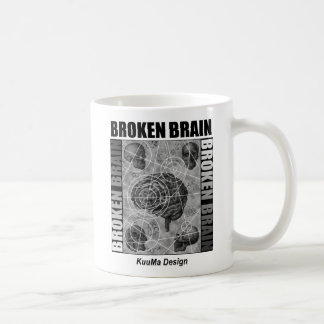 broken brain coffee mug