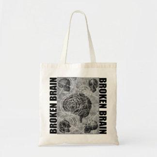 broken brain tote bag