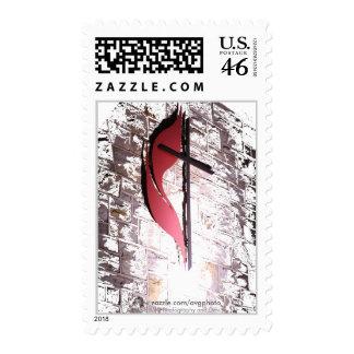 Broken Brick Wall Cross Stamps