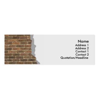 Broken Brick Wall Profile Card Business Card Templates