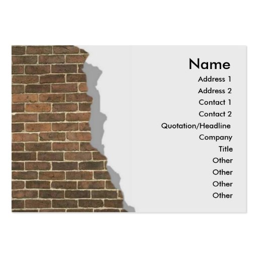 Broken Brick Wall Profile Card Large Business Cards (Pack Of 100)