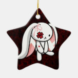 Broken Bunny Double-Sided Star Ceramic Christmas Ornament