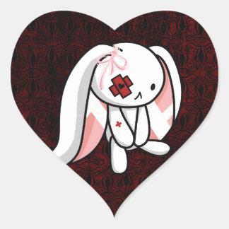 Broken Bunny Heart Sticker