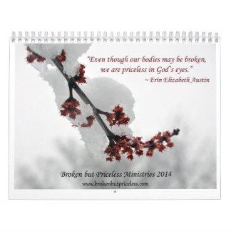 Broken but Priceless Ministries' 2014  Calendar