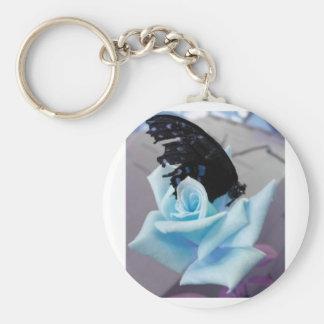 Broken Butterfly Blue Key Chain