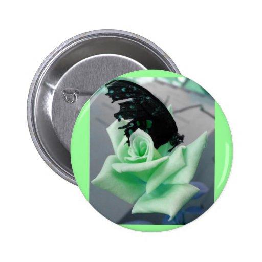 Broken Butterfly-green Pinback Buttons