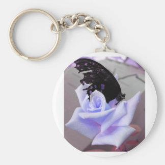 Broken Butterfly Purple Keychains