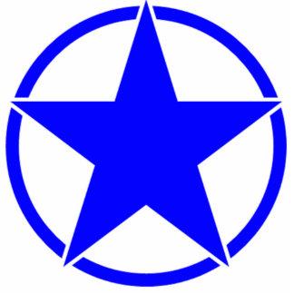 Broken Circle Star Blue Cutout