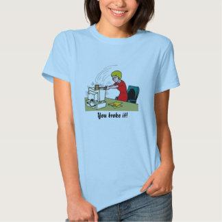 Broken Computer - Customized T-Shirt