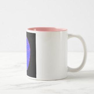 Broken diamond Two-Tone coffee mug