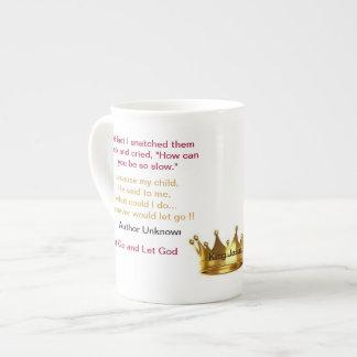 Broken Dreams...Let Go and Let God China Mug Porcelain Mugs