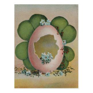 Broken Easter Egg Forget Me Not Four Leaf clover Post Cards