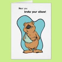 Broken Elbow Bear Card