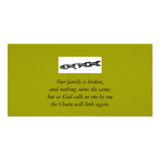 Broken Family Card