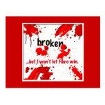 Broken, Fibromyalgia postcard