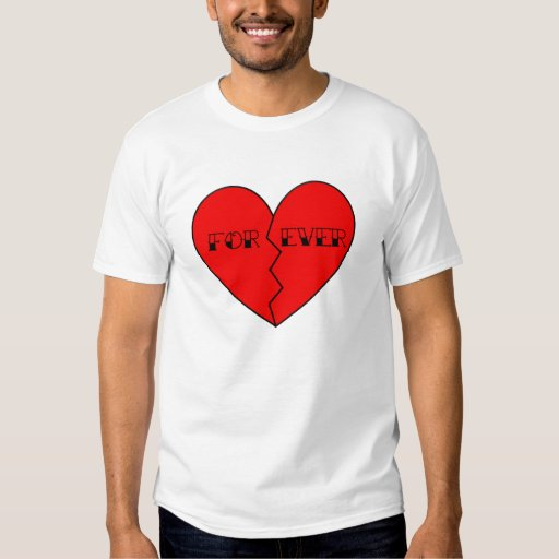 """Broken """"For/Ever"""" Heart Anti-Valentine's Day T Shirt"""
