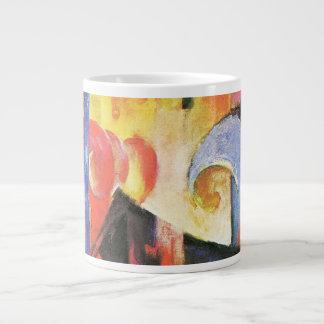 Broken Forms aka Zerbrochene Formen by Franz Marc 20 Oz Large Ceramic Coffee Mug